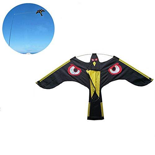 Emulation Black Bird Repellent Hawk Flugdrachen Scarer Flying Birds Repellent Lockvogel Schädlingsbekämpfung Für Scarecrow Garden -