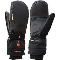 30seven beheizbare Ski-Handschuhe Fäustlinge mit Akku, beheizte Fausthandschuhe für Damen & Herren / beheizbarer Winterhandschuh zum Skifahren, Snowboarden, Wintersport / wasserdicht / schwarz