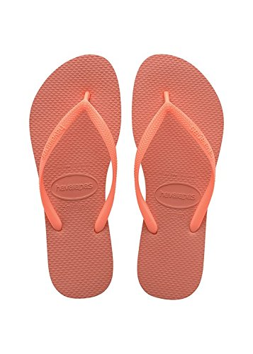 Havaianas Slim - Sandali Donna, Arancione (Orange Cyber 6678), 41/42 EU (39/40 Brazilian)