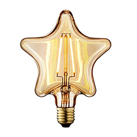TRANSTEC®- 1 PACK - STAR Shape 2 Watt Amber Glass