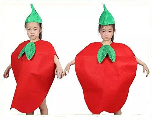 üse und Natur Kostüme Anzüge Outfits Kostümfest für Jungen und Mädchen (Roter Apfel) (Kinder-frucht-kostüm)