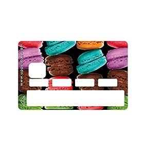 Upper&co - Sticker carte bancaire big macarons - Sticker