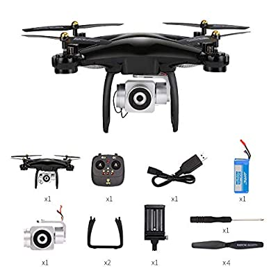 XUEME Drone with camera 1080p, Wifi FPV GPS automatically returns to wide-angle camera height to maintain headless mode, large capacity battery Suitable for beginners