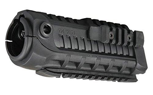 TOMTAC Airsoft M4AEG GBB Polymer Handschutz mit zusätzlichen Schienen schwarz SWAT @ Helm Welt (Schienen Airsoft M4)