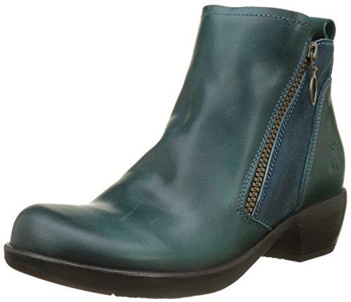 Soft-toe Side Zip (Fly London Damen Meli Stiefel, Grün (Petrol), 39 EU)