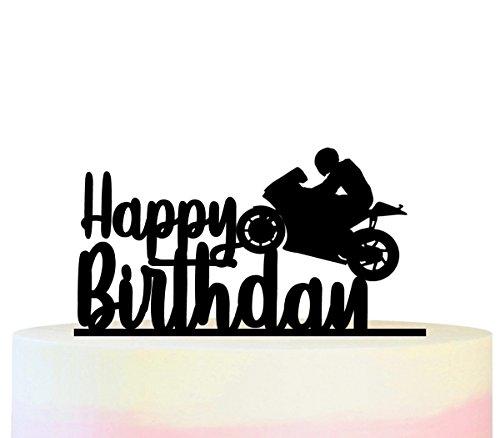 irthday Motorcycle Racing Kuchenaufsätze Hochzeit Geburtsta Acryl Dekor Cupcake Kuchen Topper Stand für Kuchen Party Dekoration 11 Stück ()