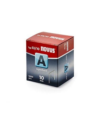 Novus 042-0518 Carton de 5000 Agrafes fines 53/10 Renforcées Rouge