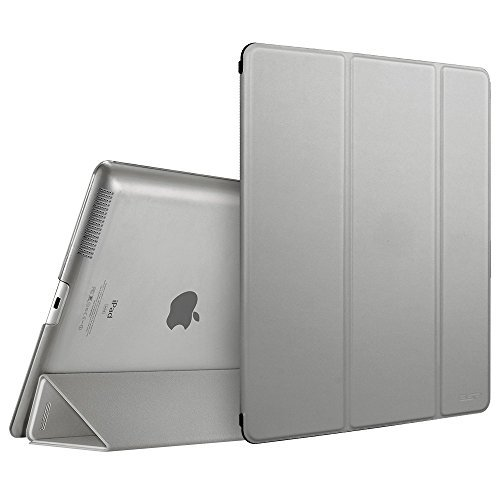 ESR Hülle kompatibel mit iPad 4 / iPad 3 / iPad 2 (9,7 Zoll), Ultra Dünnes Smart Case Cover mit Auto Schlaf-/Aufwachfunktion - Kratzfeste Schutzhülle mit PC Hardcase Backcover - Silber