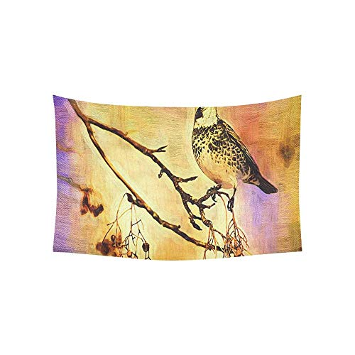 Daawqee Wandteppiche Bird On The Tree Oil Panting Tapestries Wall Hanging Flower Psychedelic Wandteppiche Wall Hanging Indian Dorm Decor Living Room Bedroom 60 X 80 inch
