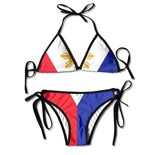 Philippines Flag Women's Two-Piece Suits Bikini Beach Bathing Swimsuit
