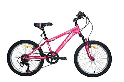 """Umit Bicicleta 20\"""" XR-200 Rosa con Cambio Shimano 6V. Y Suspension Delantera"""