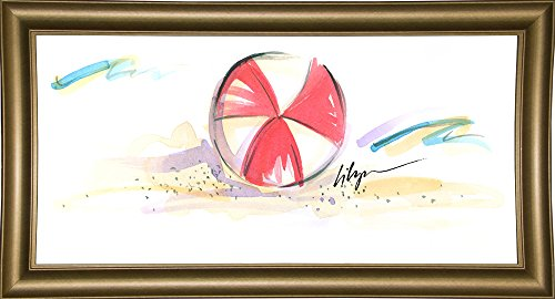Frame USA Jennifer Lilya-JENLIL115066 Gerahmter Kunstdruck, 12,7 x 25,4 cm, Bistro Gold Jennifer Bistro