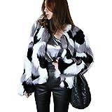 XWB Pelzmantel Damen Luxus Kunstpelz Pelzjacke Winter Faux Pelz Kurz Jacke Flauschigen Mantel Outwear S-6XL