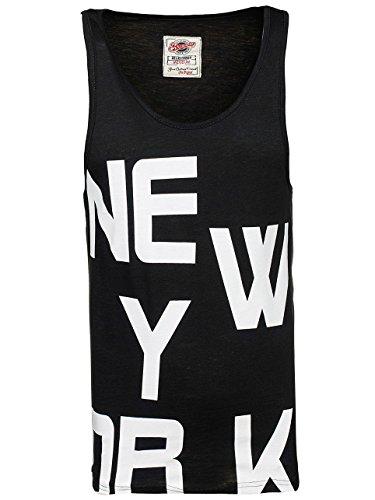 BOLF Herren Tanktop T-Shirt Tee Ärmellos Slim Fit Rundhals BREEZY 726 Schwarz M [3C3] |