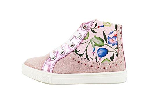 DIDI BLU sneakers bambina rosa camoscio pelle AG474 (24 EU)