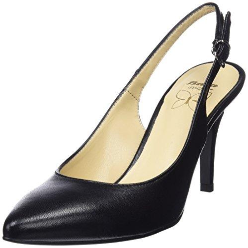 BATA 7246196, Scarpe col Tacco con Cinturino Dietro la Caviglia Donna, (Nero 6), 38 EU