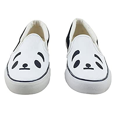 Black and White – Panda LazyBrats Hand Painted Shoes – UK 11