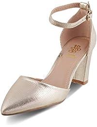 tresmode Women Block Heel Ankle Strap Sandal
