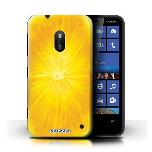 Kobalt® Imprimé Etui / Coque pour Nokia Lumia 620 / Fraise conception / Série Fruits Orange