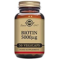 Solgar Biotin 5000 µg Vegetable Capsules - Pack of 50