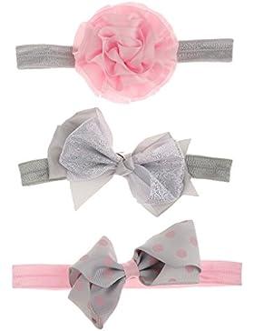 Gazechimp 3x Baby Mädchen Mädchen Kinder Stirnband Kopfband Haarband Haarschleife Headband Haarschmuck