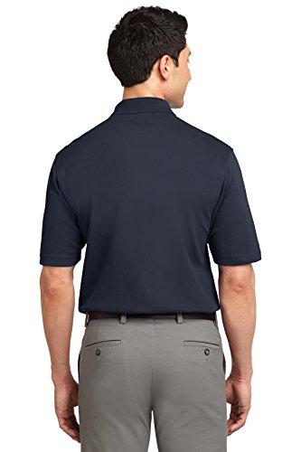 Port Authority Herren Button-down Poloshirt Blau - Classic Navy