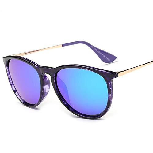 CASEY-L Polarisierte Sonnenbrille, TR Mirror Reflective Color Film Damenbrille Sonnenschutz, UV-Schutz Modetrend B