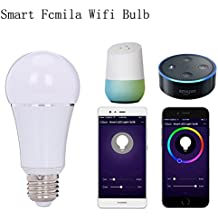 Smart Led Wifi Light Bulb 7w Bulbs Million Colours Work With Amazon Alexa Google Home And Smartphone Remote Control Timing Function Controlled Wireless Lamp Support