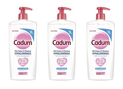 Cadum Duschgel für Körper/Haare, hypoallergen, Format - 3 Stück
