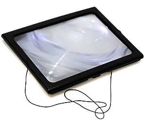 Loupe format A4 avec éclairage LED- Idéal pour lire
