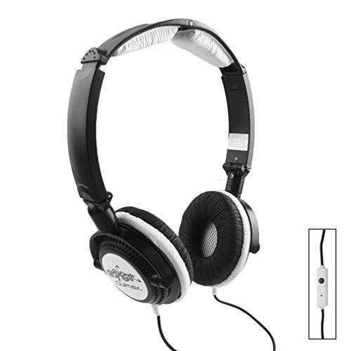 Qulmax ® Excelvan BT-1077 / Excelvan BT-MT10 / Excelvan BT-1009 / Excelvan M-106M Tablet PC Negro Plegable Rotación HD Auriculares ( HSQ09 ) con Micrófono y Mando
