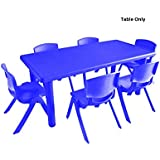 Intra Kids Table School Study Table Without Chairs - Rectangle (Blue)