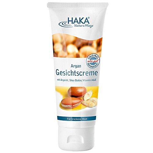 HAKA Argan Gesichtscreme I 75 ml I Feuchtigkeitscreme für trockene Haut I Hautpflege mit Shea Butter I Vitamin A & Vitamin E I Frei von...