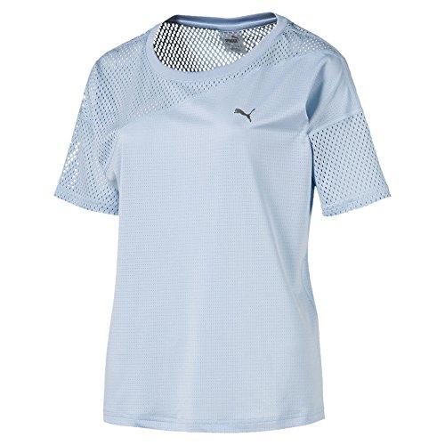 Puma Damen A.C.E Mesh Blocked T Shirt, Cerulean, M