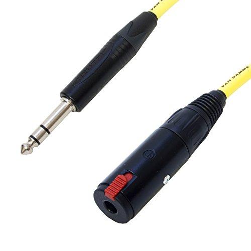 Van Damme IEM Verlängerungskabel.Stereo-Kopfhörerkabel mit 6,35 mm (1/4-Zoll) Klinke für In-Ear-Monitoring-System 15 m gelb
