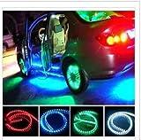 5 m Home Auto, wasserdicht, biegsam, Soft, 3528 SMD LED Strip 300 LED.Ideal für Küche, Haus, Garten, Schrank, Aquarium, Auto, Bar, Partydekoration. 24cm-blue