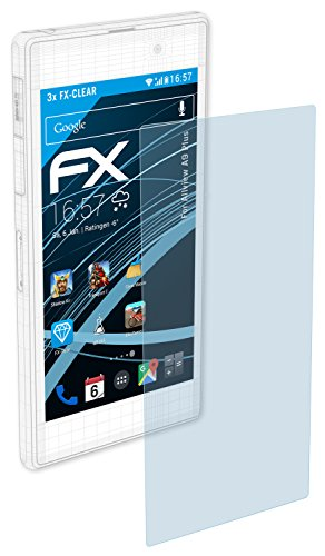 atFolix Schutzfolie kompatibel mit Allview A9 Plus Folie, ultraklare FX Bildschirmschutzfolie (3X)