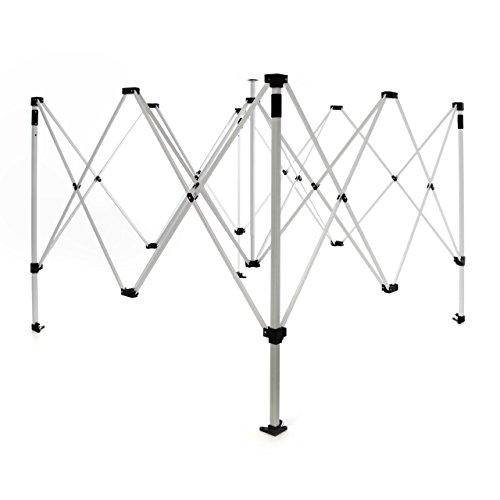 Nexos Ersatzgestell für Klapp Faltpavillon Rahmen 3 x 3 m Gestell Falt Pavillon inkl. Tragetasche Transporttasche