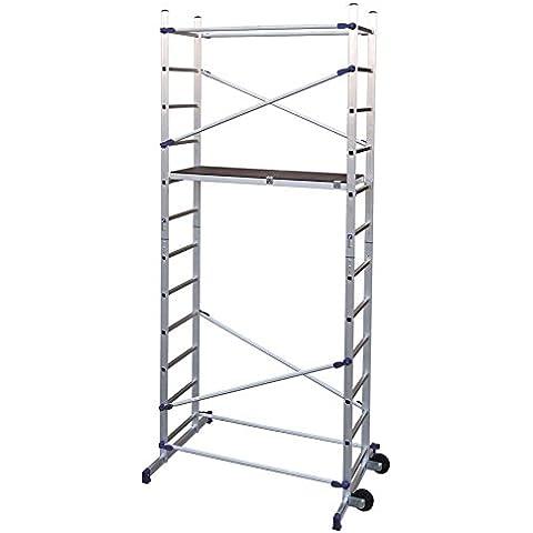 Trabattello in alluminio Mod. PINNA CLIC Altezza di lavoro 4,36 mt