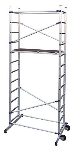 FACAL Clic - andamio Mobile scaffolding, Aluminio, Aluminio, Azul, Italia, NFE 85-200