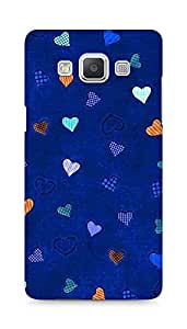 Amez designer printed 3d premium high quality back case cover for Samsung Galaxy A5 (Texture heart colorful)