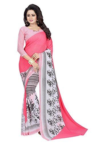 Kanchan Women's Soft Georgette Saree (Gajri)