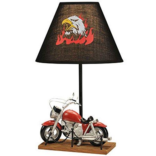 DGEG Lampada da tavolo Personalità creativa di moda Decorazione moto Illuminazione domestica Ragazzo per camera da letto/letto / camera per bambini/studio
