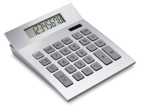 REFLECTS Solartaschenrechner mit allen wichtigen Funktionen wie Prozentrechnung, Wurzel- und Memoryfunktion SAMARA Silber