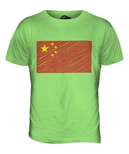 CandyMix Volksrepublik China Kritzelte Flagge Herren T Shirt Limettengrün