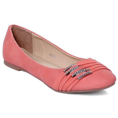CASPAR SBA004 Chaussures pour femme - ballerines avec petites boucles et strass