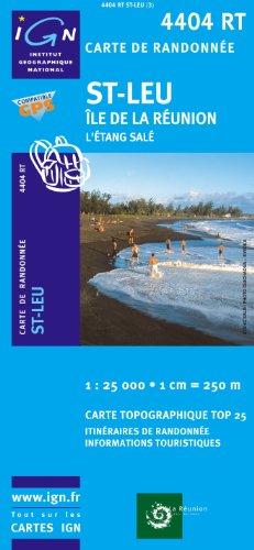 Top25 4404RT ~ St Leu ~ Etang Sale carte de randonnée avec une règle graduée gratuite