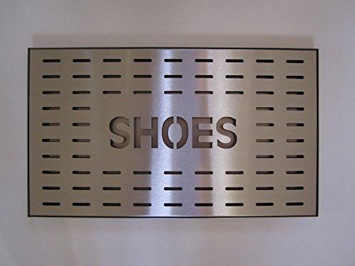 Metalltechnik & -Design Höllbacher Schuhabtropfschale Schuhablage Schuhschale Schuhwanne Schuhtablett Schuhtasse aus Edelstahl für 2 Paar Schuhe 48 x 28 cm