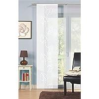 Home Fashion 87028–710Scherli–Panel japonés, fabricado en voile, 245x 60cm, color blanco