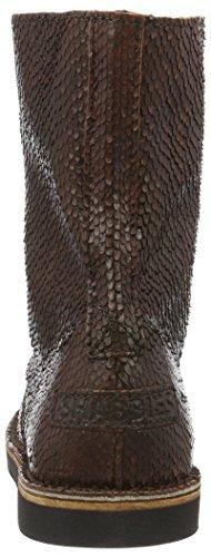 Shabbies Amsterdam Shabbies 18cm Lace Up Booty Alissa, Bottes Classiques femme Marron - Braun (Noce)